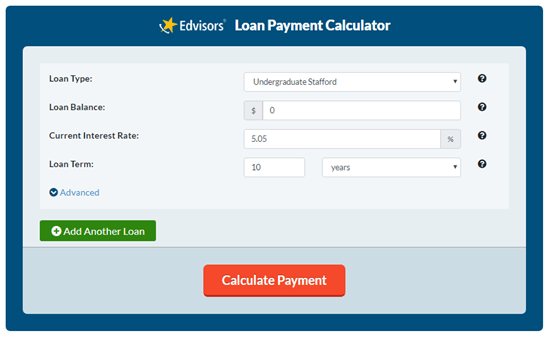 edvisors student loan payment calculator